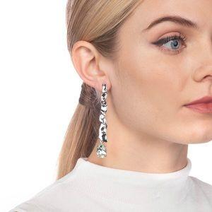 Brand new Alexis Bittar Crumpled Rhodium Earrings